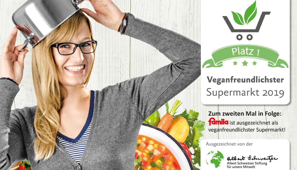 """famila ist """"Veganfreundlichster Supermarkt"""""""
