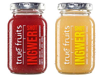true fruits Ingwer Shots